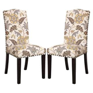 La Merenda Tropical Magazine Inspired Floral Design Parson Chairs (Set of 2)|https://ak1.ostkcdn.com/images/products/10708788/P17768049.jpg?impolicy=medium