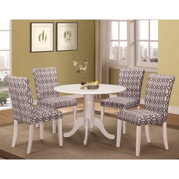 shop jolie magazine inspired 5 piece round dining set free shipping today. Black Bedroom Furniture Sets. Home Design Ideas