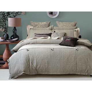 Egyptian Cotton Ons And Stripes 5 Piece Comforter Set