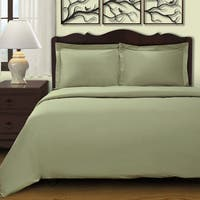 Superior 300 Thread Count Combed Cotton Sateen Duvet Cover Set