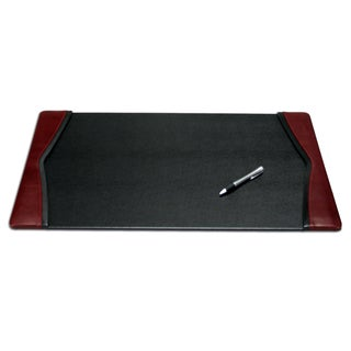 Burgundy Leather 22 x 14 Side Rail Desk Pad
