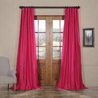 EFF Fuchsia Rose Faux Silk Taffeta Curtain Panel (50Wx108L)(As Is Item)
