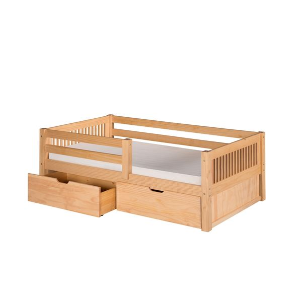 Shop Camaflexi Twin Size Natural Finish Day Bed With Guard