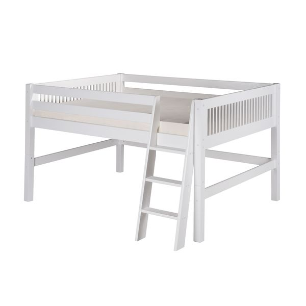 Shop Camaflexi Full Size White Finish Low Loft Bed With Mission