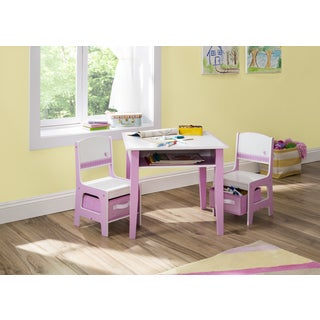 Jack & Jill Storage Table and Chair Set, Pink / White