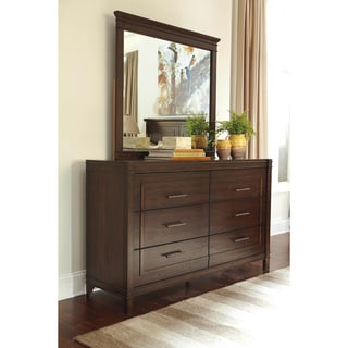 Signature Design by Ashley Timbol Warm Brown Dresser-mirror Combination
