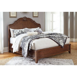 Signature Design by Ashley Balinder Medium Brown Sleigh Bed