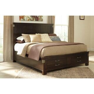 Signature Design by Ashley Haddigan Dark Brown Storage Bed