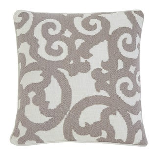 Signature Design by Ashley Embroidered White/Natural 20-inch Pillow Cover