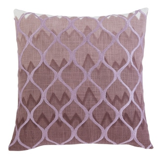 Signature Design by Ashley Stitched Purple 22-inch Pillow Cover