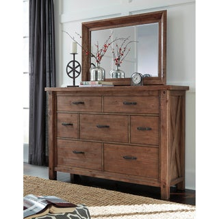Signature Design by Ashley Tamilo Gray/Brown Dresser-mirror Combination