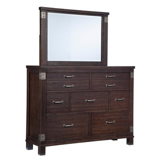 Signature Design by Ashley Haddigan Dark Brown Dresser-mirror Combination