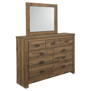 Signature Design by Ashley Cinrey Medium Brown Dresser-mirror Combination