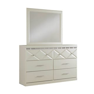 Signature Design by Ashley Dreamur Champagne Dresser-mirror Combination