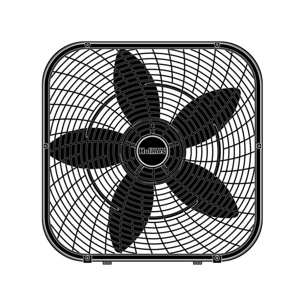 Holmes Box Fan : Shop holmes inch performance box fan free shipping on