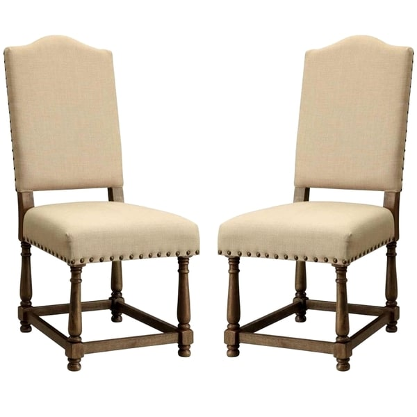 Dankona French Antique Dining Chairs with Nailhead Trim