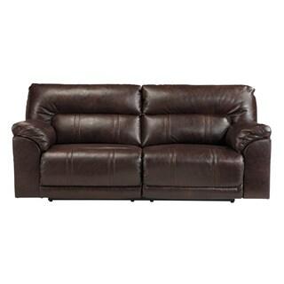 Signature Design By Ashley Barrettsville Durablend Chocolate 2 Seat  Reclining Sofa