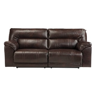 Signature Design by Ashley Barrettsville Durablend Chocolate 2-Seat Reclining Power Sofa