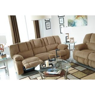 Signature Design by Ashley Roan Mocha Reclining Sofa