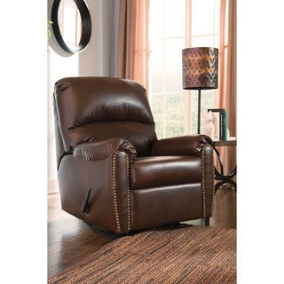 Signature Design by Ashley Lottie Durablend Chocolate Rocker Recliner
