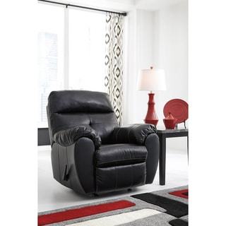 Signature Design by Ashley Bastrop Durablend Midnight Rocker Recliner