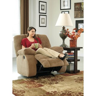 Signature Design by Ashley Roan Mocha Rocker Recliner