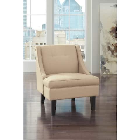 Clarinda Contemporary Cream Accent Chair