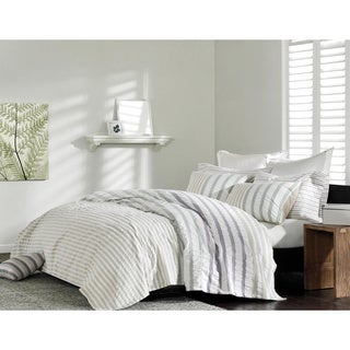 Ink+Ivy Sutton 3-piece Duvet Cover Set in King Size in Pastel Stripe (As Is Item)
