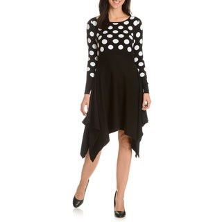 Nina Leonard Women's Polka Dot Sweater Dress