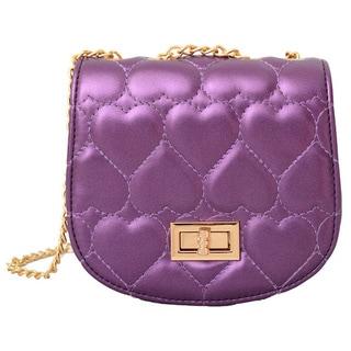 Mellow World Purple Amora Heart Clutch