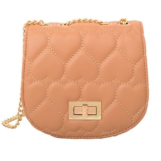Mellow World Amora Quilted Heart Khaki Clutch
