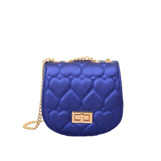 Mellow World Amora Quilted Heart Blue Clutch