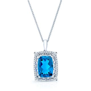 18k White Gold 1/4ct TDW Diamond and Blue Sapphire Pendant (H-I, VS1-VS2)|https://ak1.ostkcdn.com/images/products/10735455/P17791903.jpg?impolicy=medium