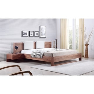 BAY Collection Walnut Veneer King Bed by Talenti Casa