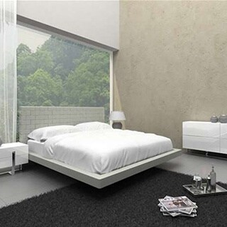 Zack Collection Gray Eco-leather Full Bed by Casabianca Home