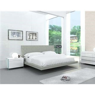 Zack Collection Gray Eco-leather King Bed by Casabianca Home