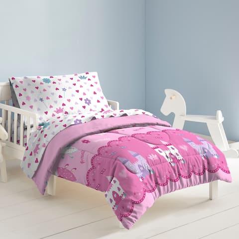 Dream Factory Magical Princess 4-piece Toddler Comforter Set