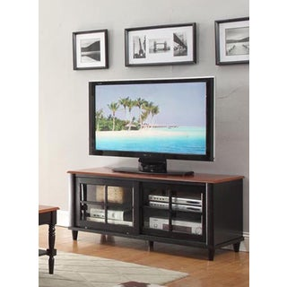 Convenience Concepts French Country TV Cabinet with Shelf and Sliding Doors