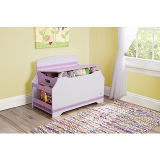 Jack And Jill Deluxe Toy Box With Book Rack (Option: Pink)