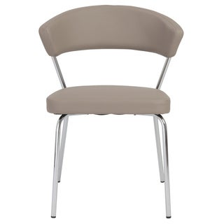 Draco Taupe and Chrome Dining Chair (Set of 4)