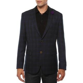 Link to Ferrecci Men's Sodi Purple Tartan Plaid Slim Fit Blazer Similar Items in Sportcoats & Blazers