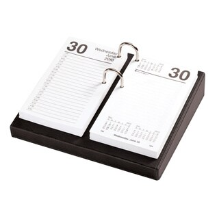 Classic Black 3.5 inch x 6 inch Calendar Holder With Silver Accents