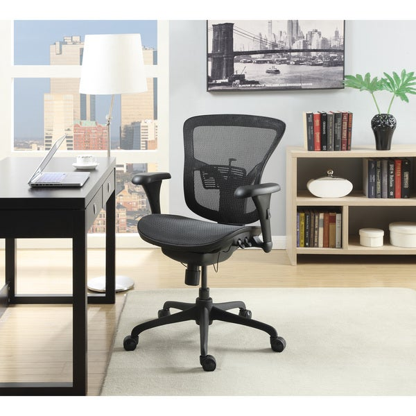 Serta Novo Ergonomic Manager Black Mesh Chair Free Shipping Today Oversto
