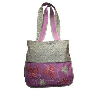 Trinity Maple Hand-Embroidered Shoulder Bag (India)