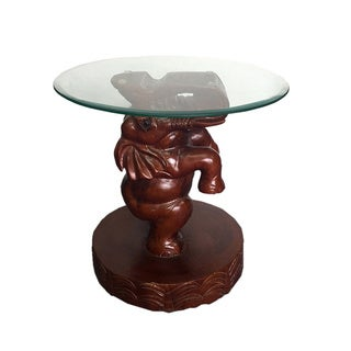 D-Art Elephant Glass Side Table (Indonesia)
