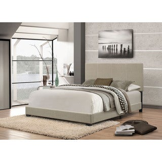 Handy Living Adriana Herbal Grey Green Upholstered Queen Bed
