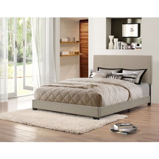 Handy Living Holly Herbal Grey Green Upholstered Queen Bed