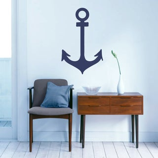 Anchor Nautical' 15 x 24-inch Wall Decal (Option: Red)