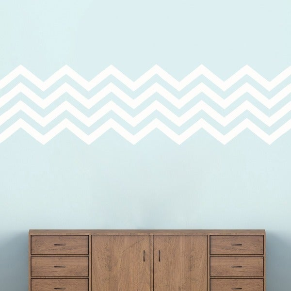 Chevron Stripes' 62 x 17-inch Wall Decals. Opens flyout.