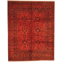 Herat Oriental Afghan Hand-knotted Tribal Khal Mohammadi Wool Rug (5' x 6'6) - 5' x 6'6